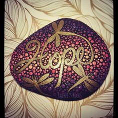 This beauty is in my etsy shop now! Link in bio❤ #rachelsrocks #paintedstones #paintedrocks #rockart #paintedstones #ilovecolour #paint #hoperocks #hope #inspire