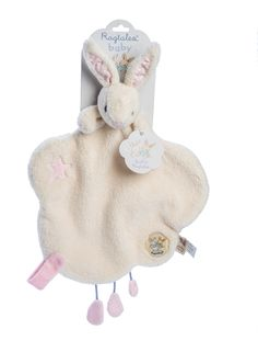 A cloud shaped comforter with soft toy baby Fifi peeping over the top. A pink velour tab with a velcro patch has been added to hold a pacifier and there are three fabric raindrops to…