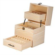 Qiilu New Beautiful Three layer Wooden Large Essential Oil Storage Holder Box Case Container Essential Oil Storage Box, Essential Oil Holder, Essential Oil Uses, Doterra Essential Oils, Wooden Storage Boxes, Wooden Boxes, Wood Oil, Art Storage, Young Living Oils