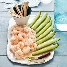 Pickled Shrimp and Cucumber Spears | The shrimp and cucumbers need to marinate overnight, so plan accordingly.