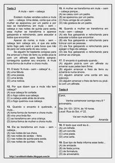 Mundinho da Criança - Atividades para Educação Infantil: Prova de Português para 4º ano, 5º ano e 6º ano