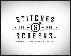 stitches - badge style: shape, type and illustration