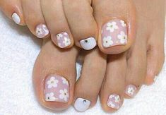 Toe Nail Designs Easy Idea 51 adorable toe nail designs for this summer stayglam Toe Nail Designs Easy. Here is Toe Nail Designs Easy Idea for you. Toe Nail Designs Easy 51 adorable toe nail designs for this summer stayglam. Teen Nail Designs, Toenail Art Designs, Pedicure Designs, Manicure E Pedicure, Pedicure Ideas, Summer Toenail Designs, Toe Nail Flower Designs, French Pedicure, Colorful Nails