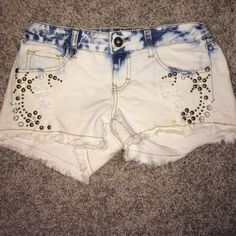 Jean shorts with rhinestones never worn Shorts Jean Shorts