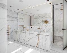 Tel Aviv by Isabelle Stanislas Architecture on Bathroom Mirror Design, Best Bathroom Designs, Bathroom Design Luxury, Bathroom Styling, Luxury Bathrooms, Bedroom Designs, Eclectic Bathroom, Bathroom Interior, Modern Bathroom