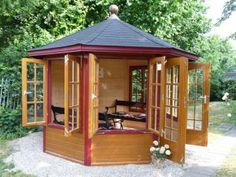Teehaus/Pavillon, 6-eckig, Holz, Robert Geiger GmbH