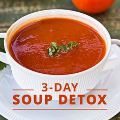 Enjoy our 3-Day Soup Detox. Just in time for the spring cleaning your body…