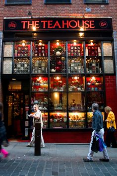 The Tea House in Covent Garden, London.  Just the display makes you want to walk in and browse even if you aren't a tea drinker!  ASPEN CREEK TRAVEL - karen@aspencreektravel.com