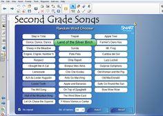 Music With Mrs. Tanenblatt: End of School Random Song Generator