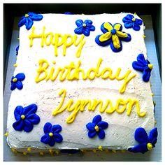 Delicious birthday cake! Visit 3rdgenerationsbakery.com to order your very own!