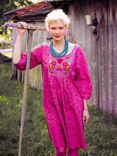 """The """"Hanna"""" Embroidered dress from Spring 2013 Funky Outfits, Colourful Outfits, Boho Outfits, Cute Outfits, Fashion Outfits, Women's Ethnic Fashion, Boho Fashion, Fashion Beauty, Womens Fashion"""