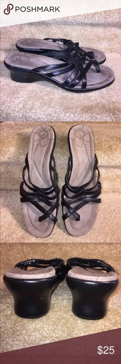 Dansko Portugal strappy wedge toe sandals 11-12 These are a gently used Dansko Portugal black leather tie loop wedge strappy sandals. They are a size 42 11-12. Thank you for looking! Dansko Shoes Sandals