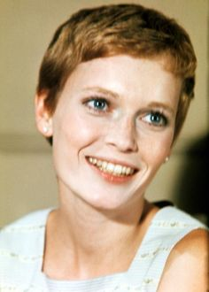 "This is the photo that I used to take to my hairdresser when I got all my hair cut off. I just love the style! When a friend of my Mum's first saw me she asked, ""have you heard of Mia Farrow?"" My hairdresser got it just right."