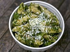 Pasta with broccoli! I made this tonight, but tweaked the recipe a little bit, and definitely added way more garlic ;)