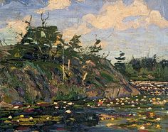 The Lily Pond - Thomson, Tom (Canadian, 1877 - Fine Art Reproductions, Oil Painting Reproductions - Art for Sale at Galerie Dada Group Of Seven Art, Group Of Seven Paintings, Canadian Painters, Canadian Artists, Famous Landscape Paintings, Landscape Art, Oil Paintings, Emily Carr Paintings, Tom Thomson Paintings
