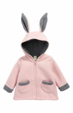 Main Image - Tucker + Tate Bunny Fleece Jacket (Baby Girls)