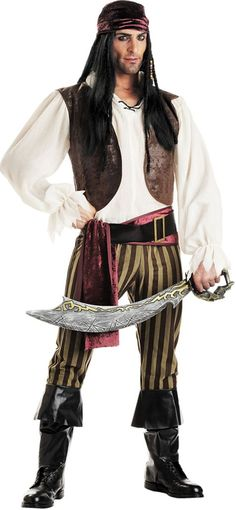 Adult Rogue Pirate Costume - Party City @Elijah Stoyle