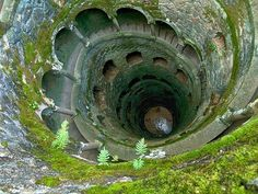 Inverted Tower, Sintra, Portugal. Nine landings. Well is connected to laberiticas caves that lad to a spooky garden and lake.