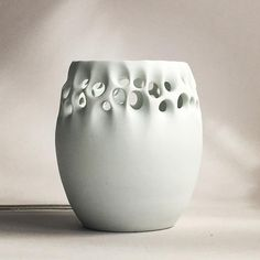 It's a porcelain lamp, it looks really cool plugged in, I just can't seem to get a good photo, so you will just have to… Slab Pottery, Pottery Vase, Ceramic Pottery, Ceramic Art, Thrown Pottery, Ceramic Mugs, Ceramic Bowls, Ceramic Techniques, Pottery Techniques