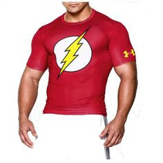 Under Armour Alter Ego Compression The Flash Tshirt. Under Armour Compression gives your muscles that extra boost they need when you're working hard. But you know what else it does? It makes you feel near invincible. It brings you much closer to becoming what you want to be, every time you work out or compete. #underarmour #theflash #musclebeach #compressionshirt #gymwear #dccomics