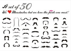 Free moustache Vectors (whatever that is)