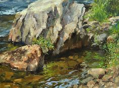 """At Water's Edge  Oil   12"""" x 16"""" by Steven Hileman"""