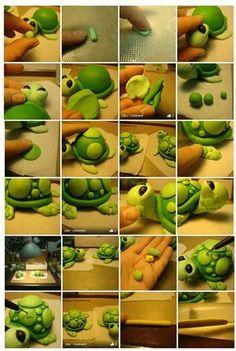 Modelatge d'una tortuga.