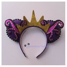 Ursula inspired Villain Mouse Ears by MouseketEarsBowtique on Etsy