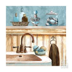 Blue Bath II Giclee Print by Gregory Gorham at eu.art.com