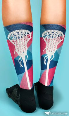 Our printed Prism lacrosse socks are one of our favorites and make a great gift idea for your lax girl or for the whole team!