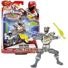 """Bandai Saban's Power Rangers Dino Super Charge Series 5"""" Tall Figure - Dino Drive GRAPHITE RANGER with Blaster and Sword"""