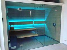 Sauna Line. Model Modernline z prysznicem. Wiecej na www. Dry Sauna, Steam Sauna, Infrared Sauna Benefits, Swimming Pools, Relax, Saunas, Spa, Design, Home Decor