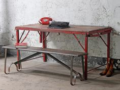 Industrial furniture table 20 Foot Vintage Folding Table At Scaramanga Industrial Bedroom Furnitureindustrial 378 Best Industrial Furniture Images Industrial Style Homes