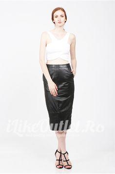 Black leather skirt - ASOS