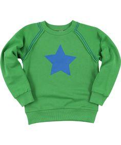Molo mega coole groene trui met grote blauwe ster #emilea