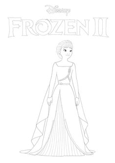 New Frozen 2 coloring pages with Anna in 2020 | Frozen ...