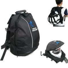 High-capacity Helmet Bag – Buy for Bikes Leather Backpack Pattern, Best Leather Backpack, Vintage Leather Backpack, Leather Backpacks, Motorbike Accessories, Cool Bike Accessories, Motorcycle Saddlebags, Vintage Backpacks, Motorcycle Helmets