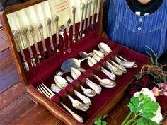 ROGERS1948年純銀P.アンティークシルバーカトラリー52本箱 インテリア 雑貨 家具 Antique cutlery ¥2000yen 〆05月11日