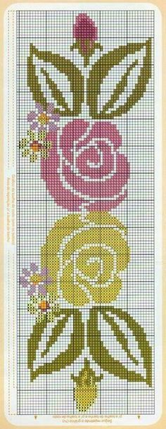 Cross Stitch Borders, Cross Stitch Rose, Cross Stitch Alphabet, Cross Stitch Flowers, Cross Stitch Charts, Cross Stitching, Cross Stitch Patterns, Diy Embroidery, Cross Stitch Embroidery