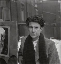 Lucian Freud at the age of 23, in 1945 photo by Francis Goodman