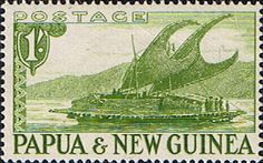 Papua New Guinea 1952 SG 10 Lakatoi Boat Fine Mint Scott 131 Other Papua New Guinea Stamps HERE