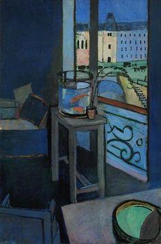 """""""Intérieur au bocal de poissons rouges"""" in 1914 by Henri Matisse, Centre Pompidou (MNAM), Paris"""