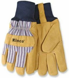 "Kinco International Med Lined Pigpalm Glove 1927Kw M Lined Leather Gloves by Kinco. Save 4 Off!. $15.43. Men's leather palm glove. Premium grain pigskin. ""KINCO"" MEN'S LEATHER PALM GLOVE. Size: Medium. Striped fabric backing. Medium, Men's, Premium Grain Pigskin, Leather Palm Glove, Striped Fabric Backing, Heatkeep Thermal Lined Insulation, Wing Thumb, Snug Knit Wrist Cuff, Shirred Elastic Wrist."