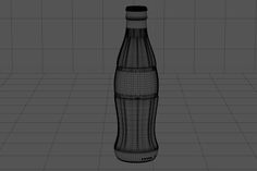 Free 3D Model of Coca-Cola bottle (2 versions) on Behance