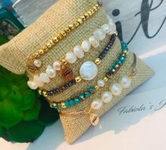 Leather Jewelry Making, Beaded Jewelry, Beaded Bracelets, Beading Tutorials, Deli, Jewelry Crafts, Jade, Jewlery, Earrings