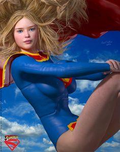 Supergirl Strike a Pose by DevilishlyCreative.deviantart.com on @DeviantArt