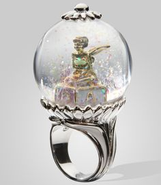Disney Couture Tinkerbell Snow Globe Ring at fredflare.com
