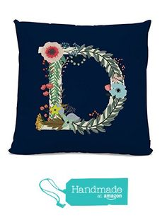 Initial Pillow - Floral Letter Pillow - Pillow with Letter D - Monogrammed Pillow - Custom Throw Pillow Flower Monogram Pillow from Michelle O'Hollaren https://smile.amazon.com/dp/B01AWWG29I/ref=hnd_sw_r_pi_dp_W2Q8xb2GNE87A #handmadeatamazon