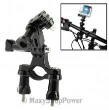 SUPPORTO PIU SNODO VITI DA BICI MOTO GOPRO HD HERO 2 3 3+ BLACK EDITION / 3+ PLUS SILVER EDITION NEW NUOVO - SU WWW.MAXYSHOPPOWER.COM