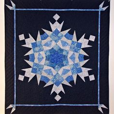 Snow Crystal Quilt by The Queen Quilts. Three books provided the inspiration for this quilt:  Snowflakes by Paula Nadelstern,  More Biblical Quilt Blocks by Rosemary Makhan, and Kaleidoscope ABCs by Marti Michell.
